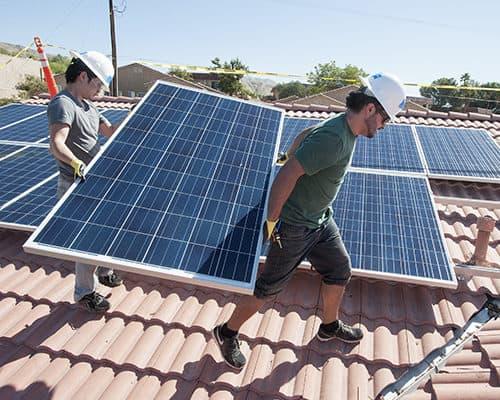 Flat roof solar Install panels