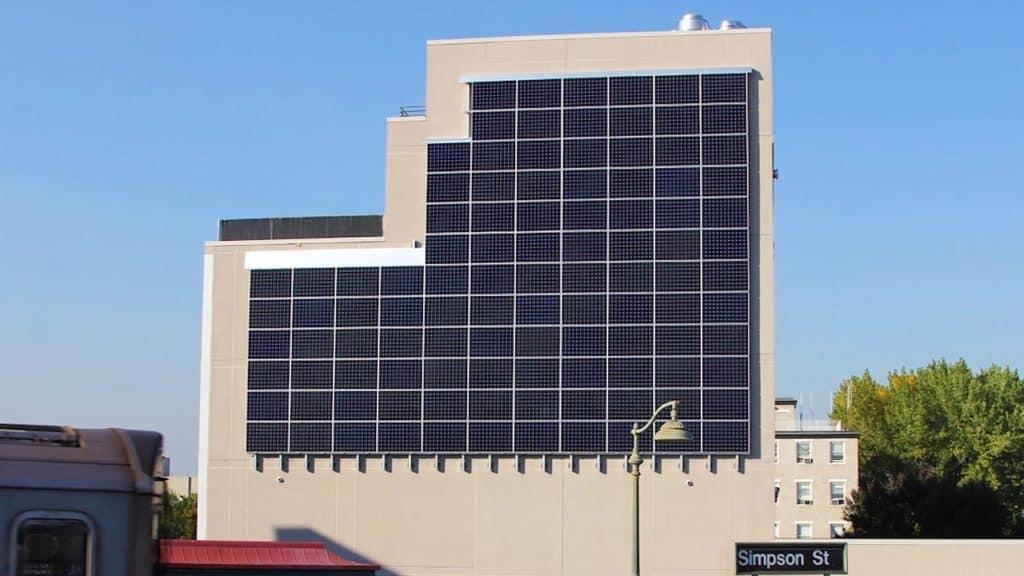 Wall solar panels