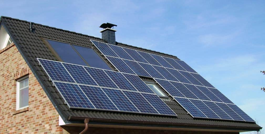 solar systems are installed on the homeowner's rooftop