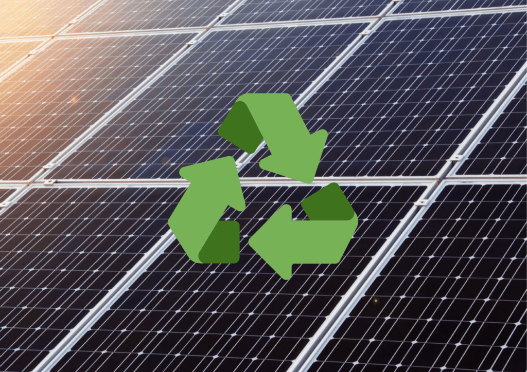 photo of recycling solar panels