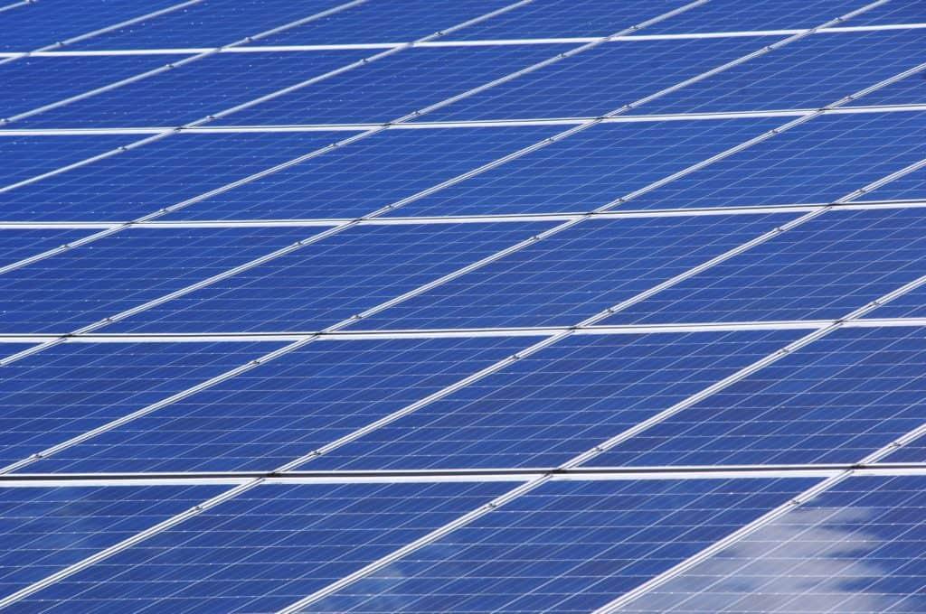 Photo of solar panel cells