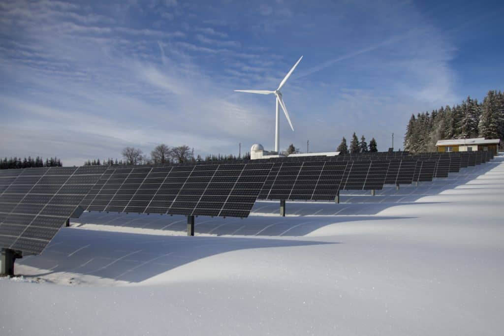 Photo of both solar and wind power