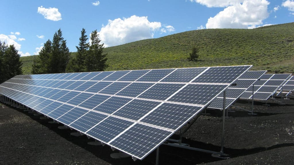 Photo of monocrystalline solar panels