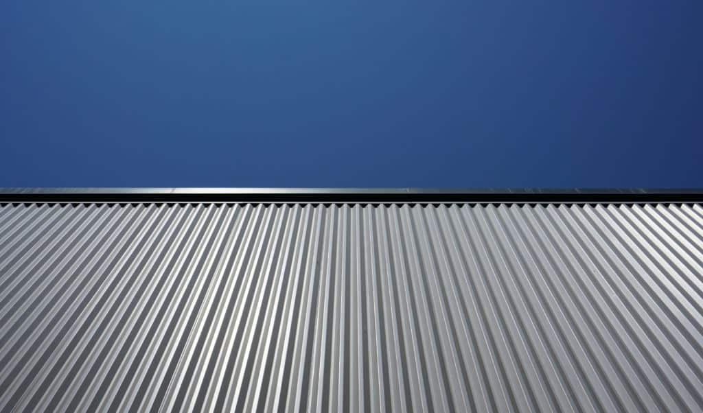 Photo of a metal roof for solar panel