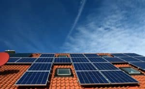Photo of solar panels on a roof