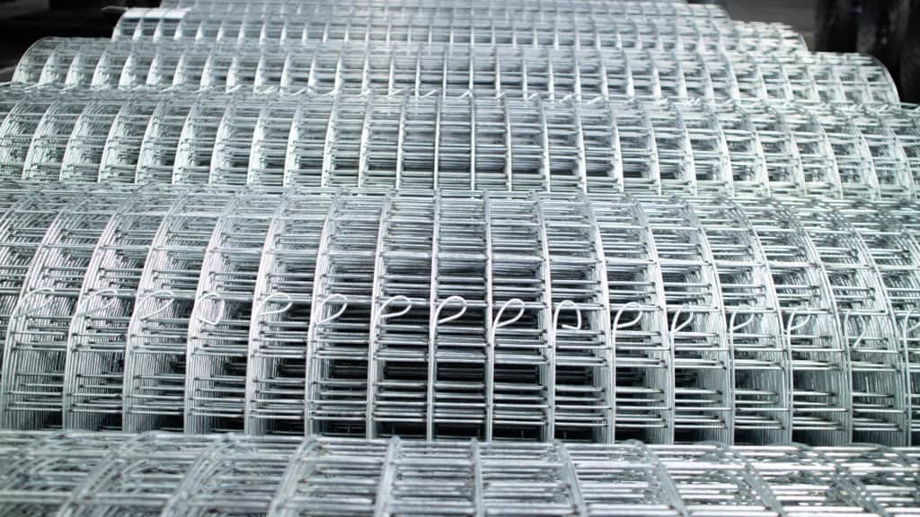 Photo of mesh wire used for bird proof guard for solar panels